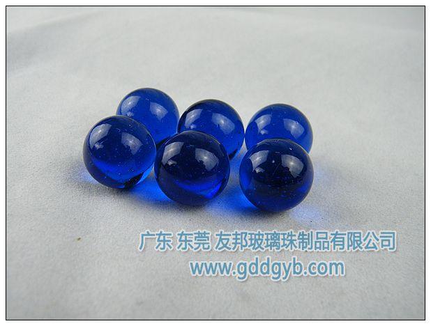 蓝色实心玻璃球