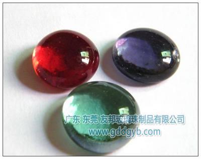 供应友邦优质红色玻璃扁珠