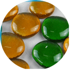 友邦彩色透明玻璃扁珠