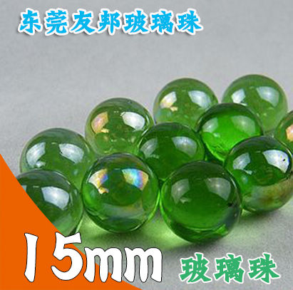 东莞友邦高透亮15毫米绿色玻璃珠