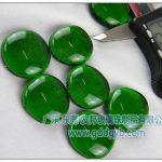 东莞友邦绿色玻璃扁珠